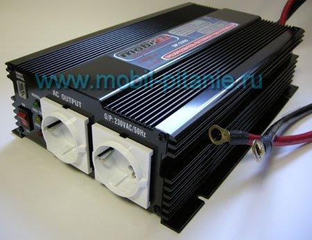 Автомобильный инвертор 12 220 вольт 1000 ватт